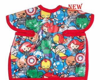 Baby Avengers Deluxe Apron Bib