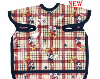 Mickey plaid Deluxe Apron Bib