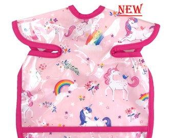 Happy Unicorn Deluxe Apron Bib