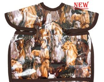 Wild Horses Deluxe  Apron Bib