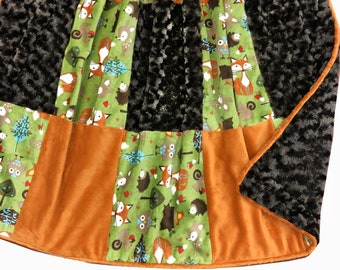 Woodland Deluxe Minky Adult Sized Throw Blanket