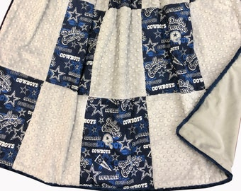 Cowboys 2 Deluxe Minky Adult Sized Throw Blanket