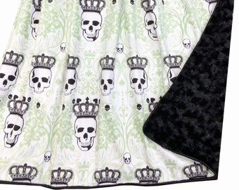 Royal Skulls Deluxe Minky Adult Sized Throw Blanket