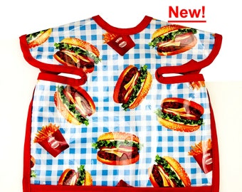 Hamburger and Fries Deluxe Apron Bib