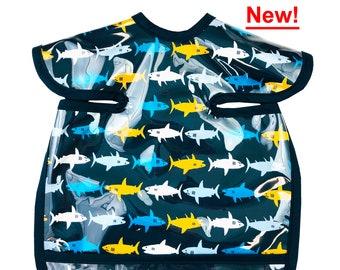 Shark Bites Deluxe Apron Bib