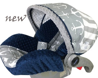 Gray Anchors Infant Car seat Cover