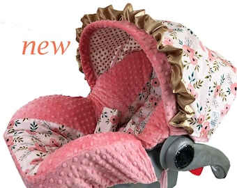 Sweet Coral Infant Car Seat Cover