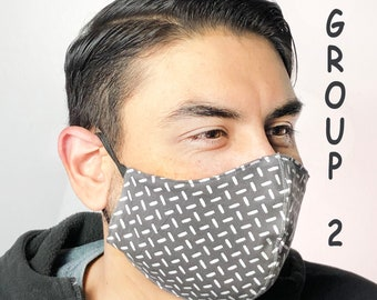 Adult Face Mask  Group Two - Cotton Face Mask - Mask With Filter Pocket - Washable Mask -   3 Fabric Layers -  Proudly Made In USA!