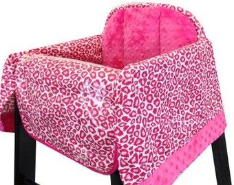 Hot Pink Cheetah High Chair Cover Restaurant