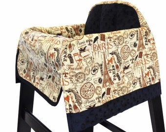 Vintage Paris High Chair Cover Restaurant