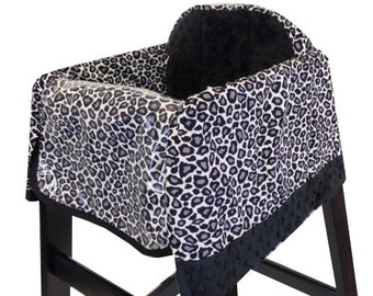 Gray Cheetah High Chair Cover Restaurant