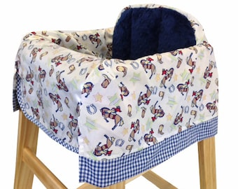 American Cowboy High Chair Cover Resturant