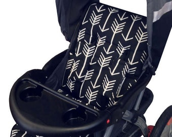Black Arrows Stroller Liner - Reversible Stroller Pad