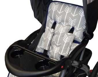 Gray Arrow Stroller Liner - Reversible Stroller Pad