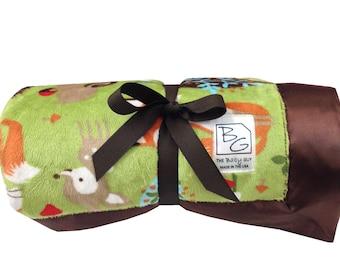 Woodland Friends Deluxe Minky Blanket