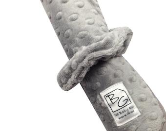 Grey Minky Roll N Go Changing Pad