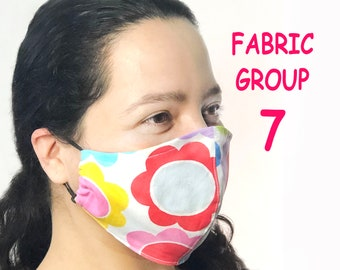 Adult Face Mask Group Seven - Cotton Face Mask - Mask With Filter Pocket - Washable Mask -  3 Fabric Layers -  Proudly Made In USA!