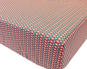 reg. price-26.00 Coral Diamonds Crib Sheet