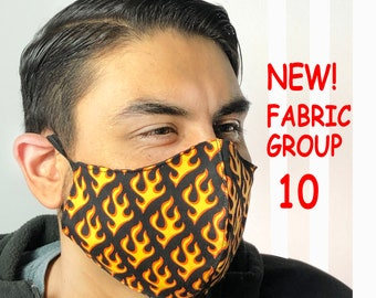 Adult Face Mask Group Ten - Cotton Face Mask - Mask With Filter Pocket - Washable Mask -  3 Fabric Layers -  Proudly Made In USA!