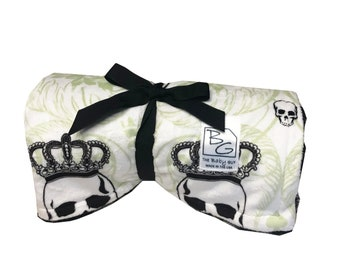 Royal Skulls Back 2 Basics Stroller Blanket