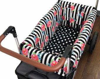Striped Roses Stroller Wagon Liner For Keenz