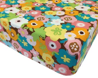 reg. price 26.00 Autumn Flowers Crib Sheet