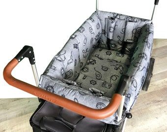Gray Nautical Stroller Wagon Liner For Keenz
