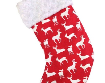 Red Deer Christmas Stocking