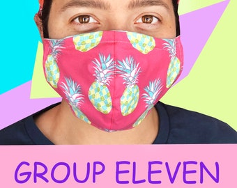 Adult Face Mask Group 11 - Cotton Face Mask - Mask With Filter Pocket - Washable Mask -  3 Fabric Layers -  Proudly Made In USA!