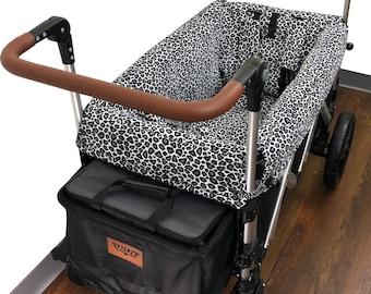 Gray Cheetah Stroller Wagon Liner for Keenz