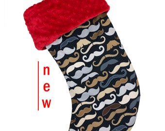 Mustache Christmas Stocking