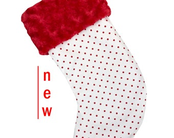 Mini Red Dots Christmas Stocking