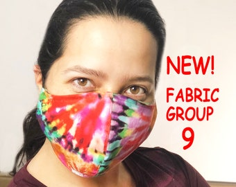 Adult Face Mask Group Nine - Cotton Face Mask - Mask With Filter Pocket - Washable Mask -  3 Fabric Layers -  Proudly Made In USA!