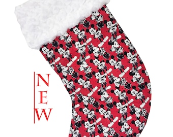 Plaid M & M Christmas Stocking