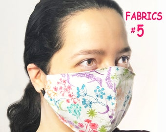 Adult Face Mask Group Five - Cotton Face Mask - Mask With Filter Pocket - Washable Mask -   3 Fabric Layers -  Proudly Made In USA!