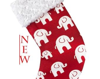 Red Bobo Elephant Christmas Stocking