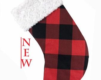 Red/Black Buffalo Check Christmas Stocking