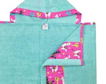 Llama Love Hooded Towels