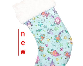 Princess Mermaids Christmas Stocking