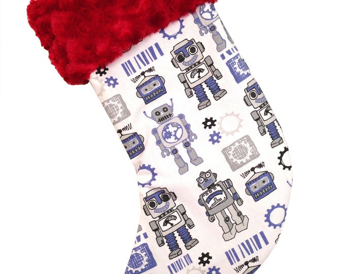 Featured listing image: Robots Christmas Stocking