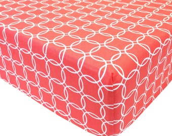 reg. price-26.00 Coral Rings Crib Sheet