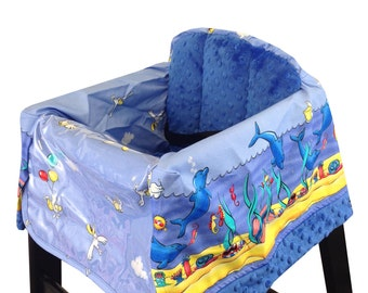 Ocean Life High Chair Cover Restaurant