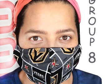 Adult Face Mask Group Eight - Cotton Face Mask - Mask With Filter Pocket - Washable Mask -  3 Fabric Layers -  Proudly Made In USA!