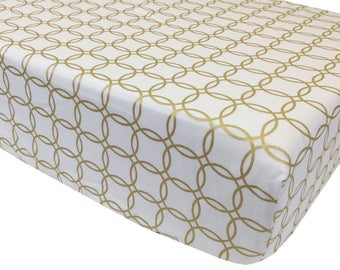 Gold Rings Crib Sheet