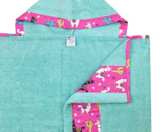 Llama Love Hooded Towel