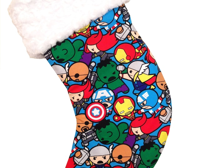 Featured listing image: Baby Avengers Christmas Stocking