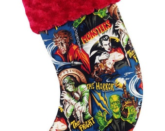 Classic Monsters Christmas Stocking