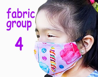 Child Face Mask Group Four - Cotton Face Mask - Mask With Filter Pocket - Washable Mask -   3 Fabric Layers -  Proudly Made In USA!
