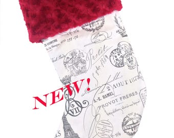 Paris Christmas Stocking