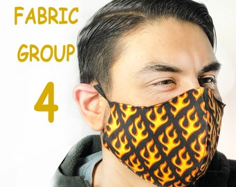 Adult Face Mask Group Four - Cotton Face Mask - Mask With Filter Pocket - Washable Mask -   3 Fabric Layers -  Proudly Made In USA!